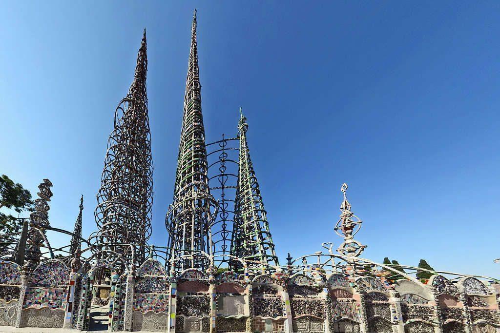 Watts Towers in Los Angeles, California