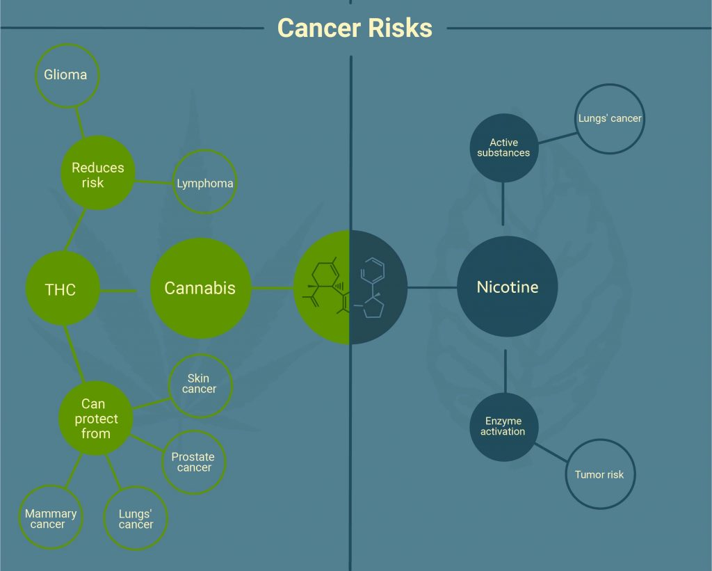 marijuana vs tobacco cancer risks
